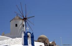 Wiatraki na Santorini