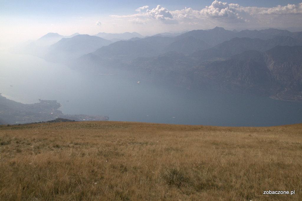 Widok z Monte Baldo na Jezioro Garda