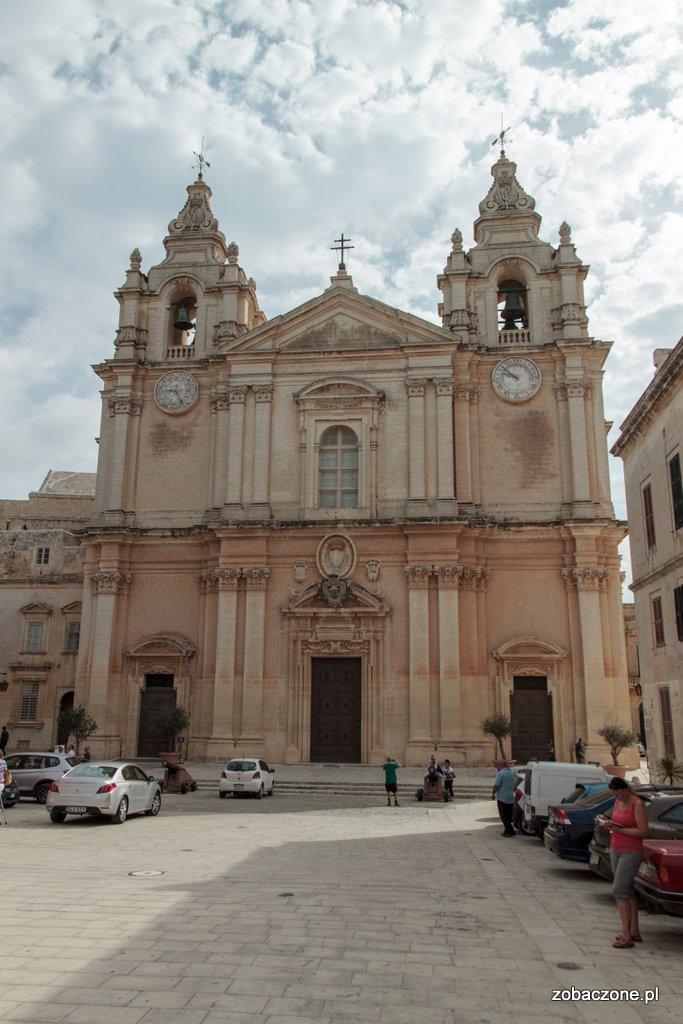 Katedra św. Pawła - największy kościół w Mdinie
