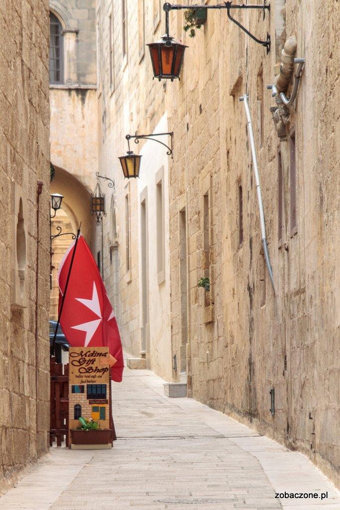 Mdina - jedna z charakterystycznych uliczek w mieście
