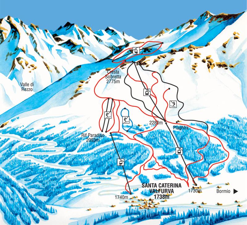 Trasy narciarskie w Santa Caterina