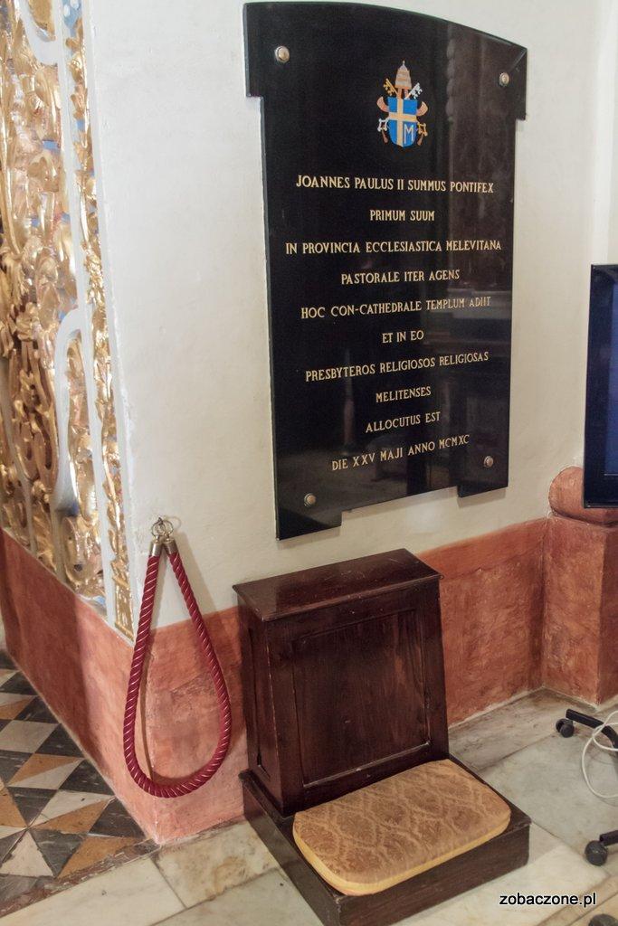 La Valetta - w konkatedrze św., Jana był Jan Paweł II