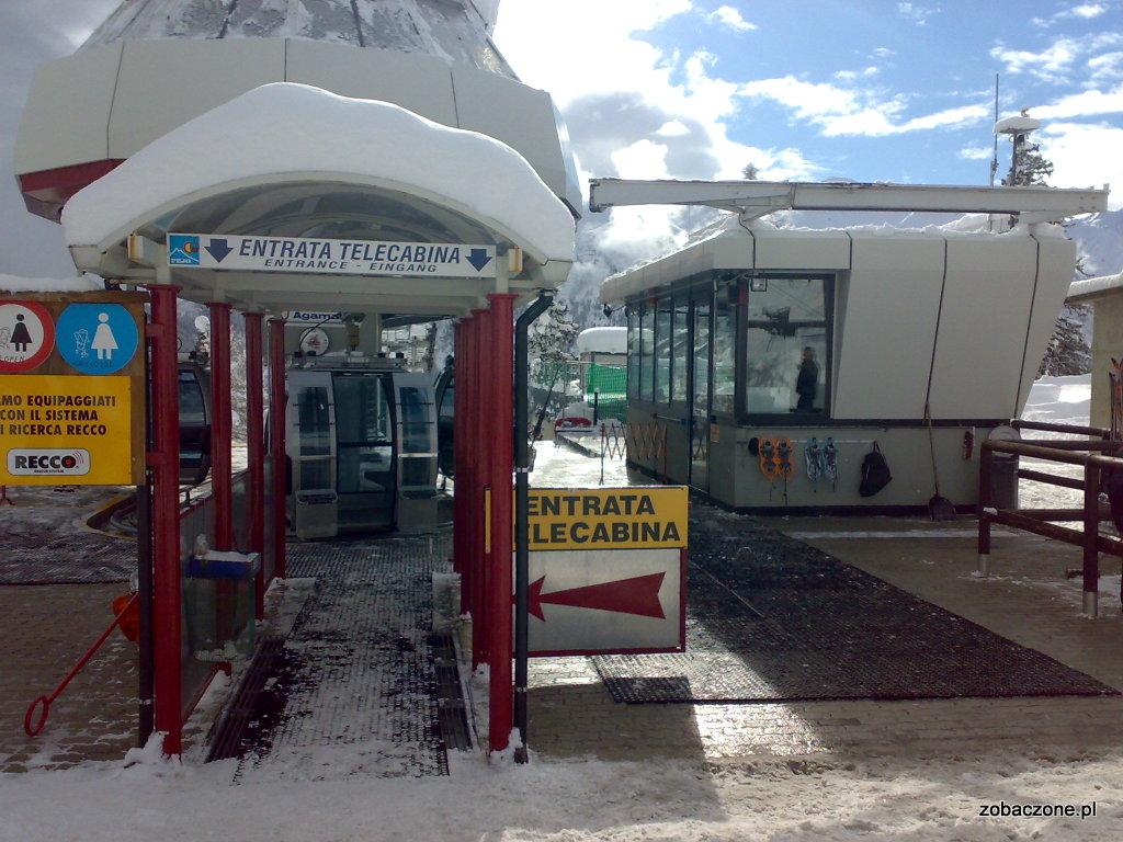 Pejo - dolna stacja wyciągu