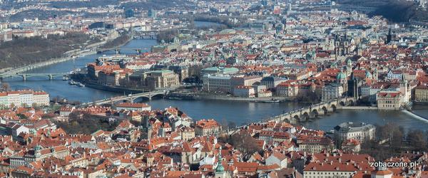 Praga - widok z wieży Petrin