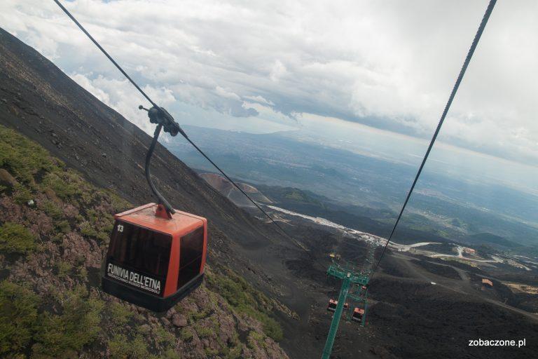 Kolej linowa na wulkanie Etna